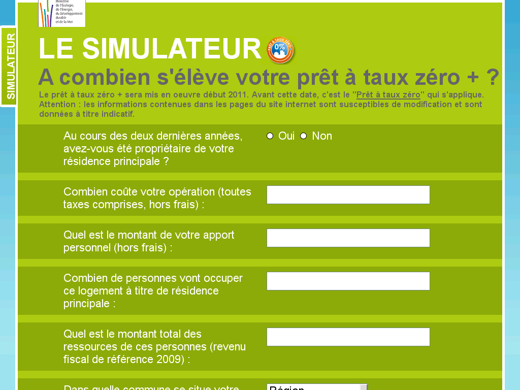 ptz plus simulation 2011 Simulation PTZ+ 2011 : Simulateur PTZ Officiel
